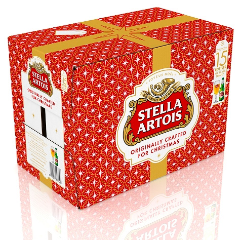 stella artois christmas packaging