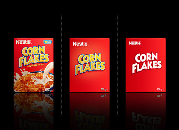 Corn Flakes Minimalistic Packaging