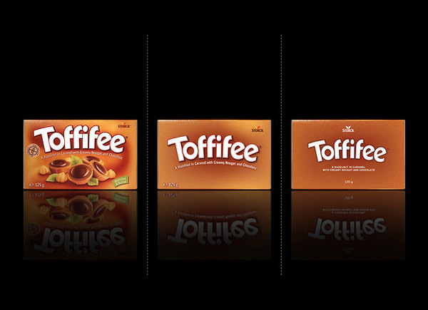 Toffifee minimalistic packaging redesign