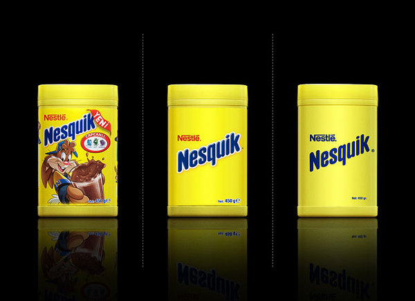 nesquik minimalistic packaging