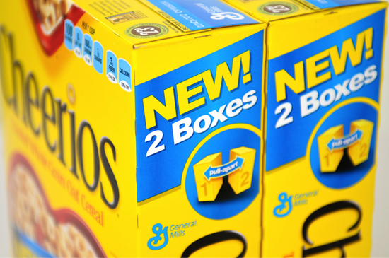 Cheerios - 2 box packaging design