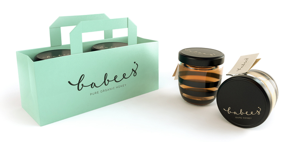 Babees Organic Honey Jars and Bag