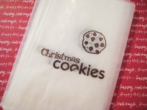 christmas cookies glassine bags