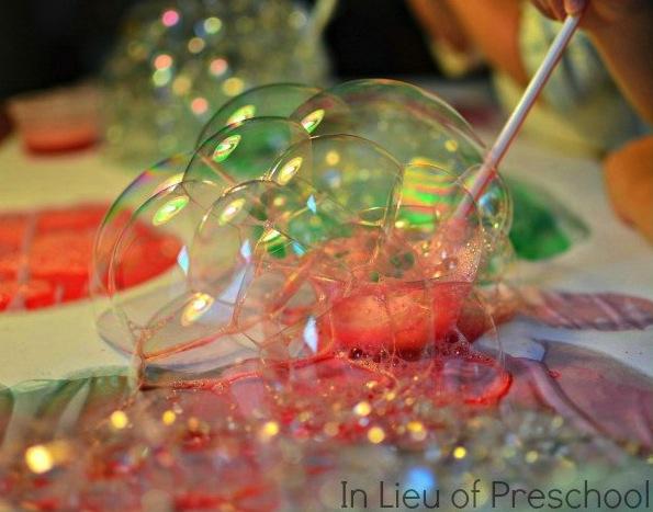 christmas bubble art 2