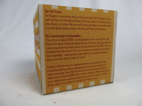 for beggers dog treats packaging environmentally friendly