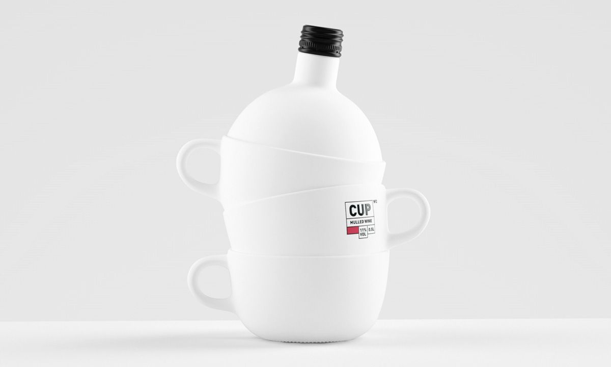 Unique Wine Bottle Design: CUP Mulled Wine