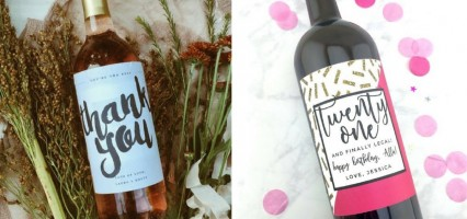 Creative Wine Labels on Etsy