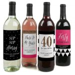 wine labels on Etsy