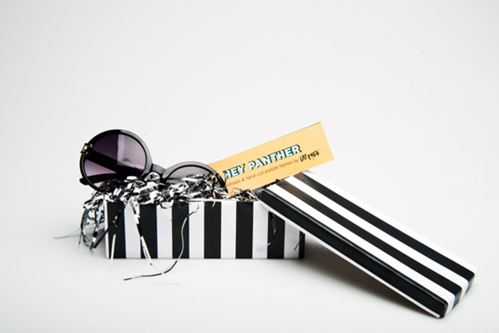 sunglasses packaging - striped sunglass box design