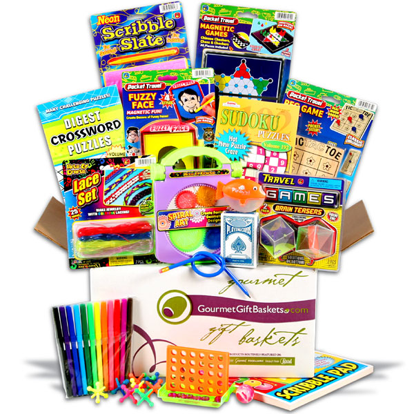 Camp Care Package Ideas - care package with sudoku, puzzles, and games